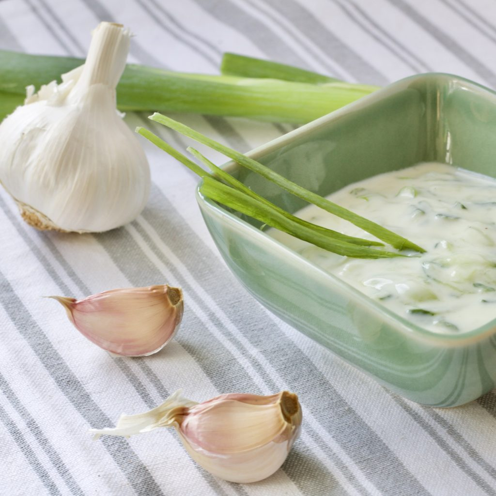 Perfect Greek Tzatziki from Jo's Kitchen Larder for Simple and in Season on feedingboys.co.uk