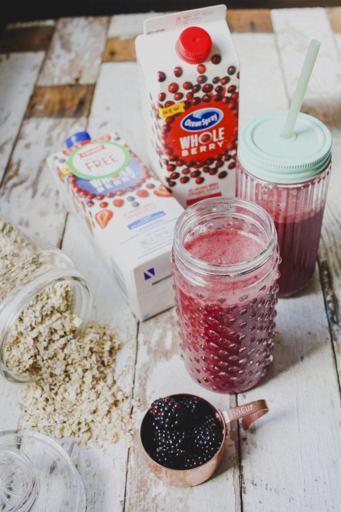 Cranberry and Blackberry Breakfast Smoothie on feedingboys.co.uk