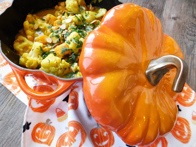 Pumpkin, Cauliflower and Chickpea Korma by Foodie Quine for Simple and in Season on feedingboys.co.uk