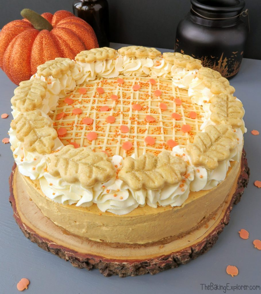 Pumpkin Pie Cheesecake by The Baking Explorer for Simple and in Season on feedingboys.co.uk