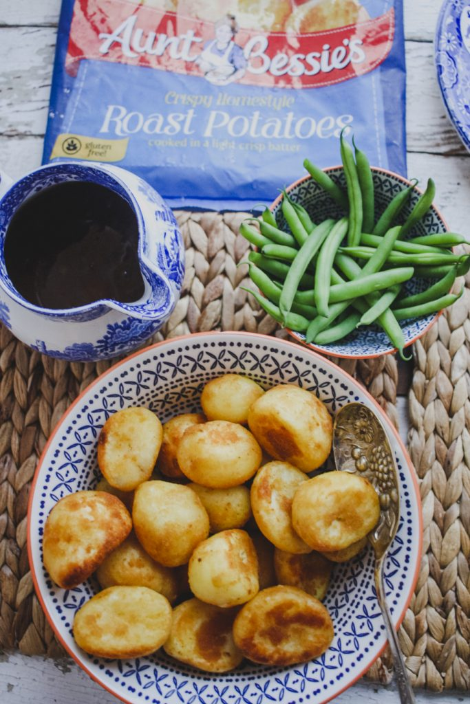 Vegetarian Roast: Aunt Bessie's Roast Potatoes on feedingboys.co.uk