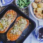 Vegetarian Roast: Stuffed Butternut Squash on feedingboys.co.uk