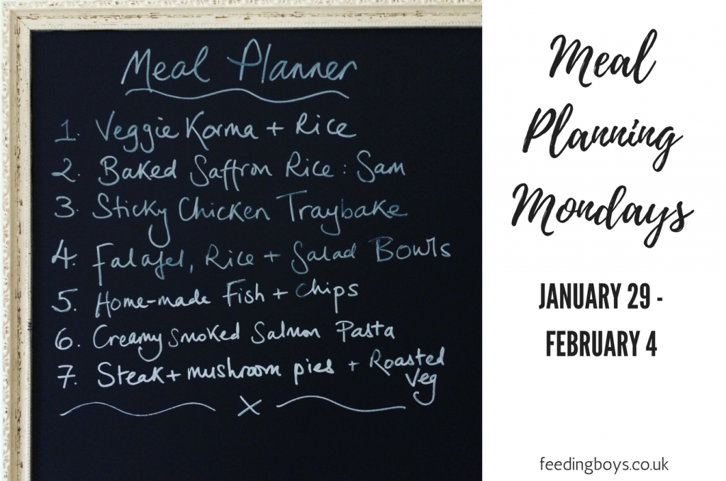 Meal Planning Monday: 29 January - 4 February on feedingboys.co.uk