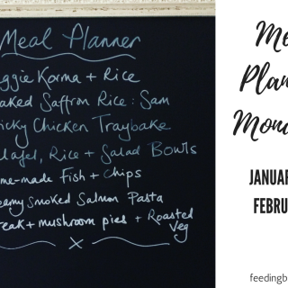 Meal Planning Monday: 29 January – 4 February