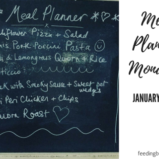Meal Planning Monday: 22 – 28 January