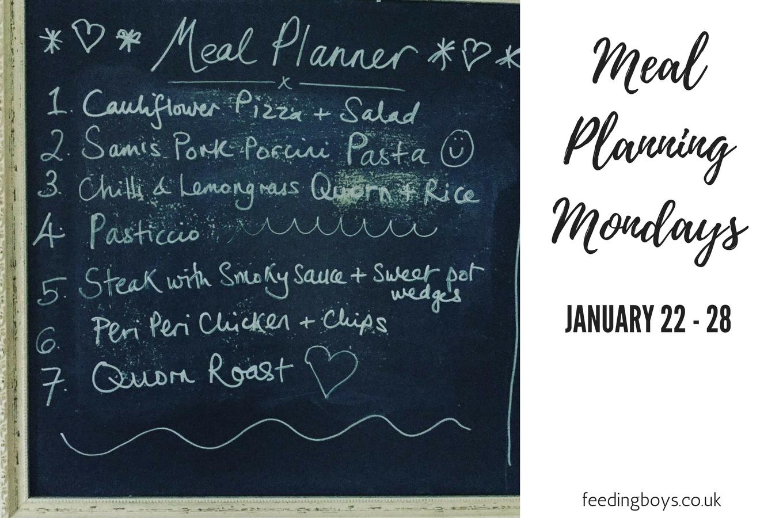 Meal Planning Mondays on feedingboys.co.uk