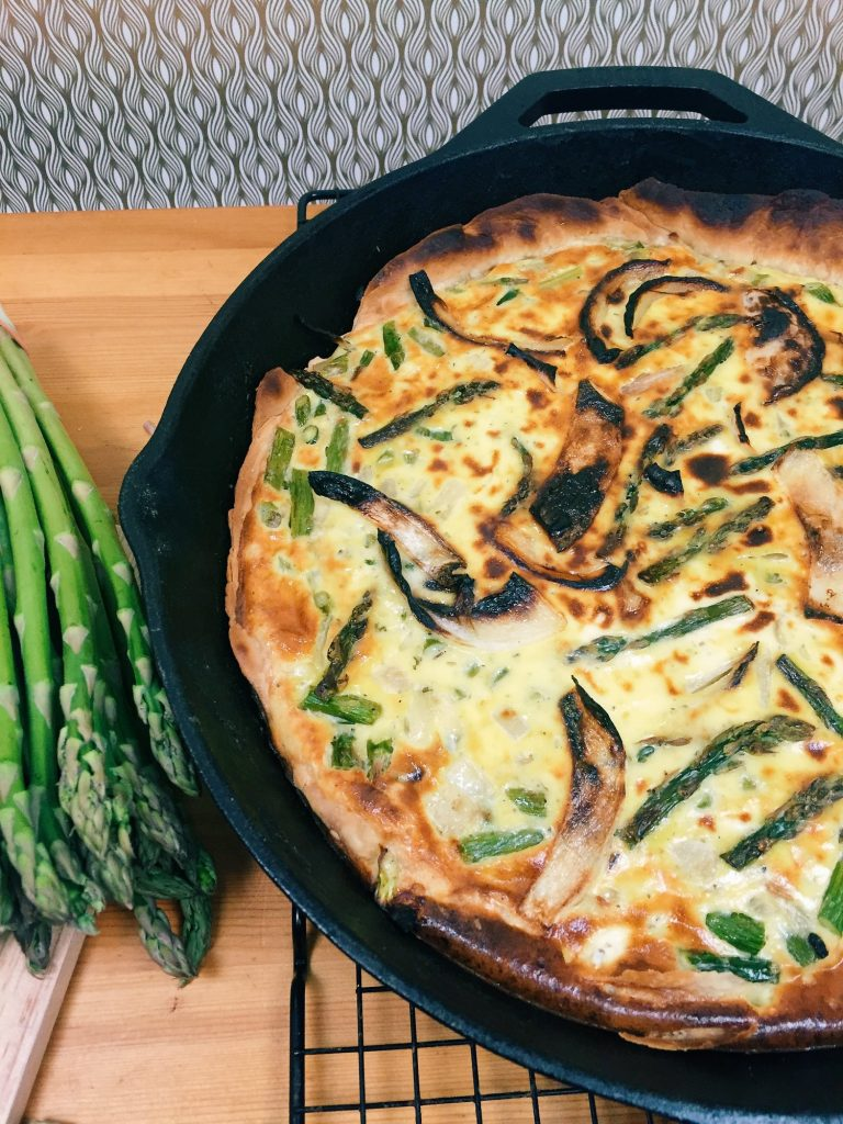 Asparagus Quiche from Chaos with Coffee for Simple and in Season on feedingboys.co.uk