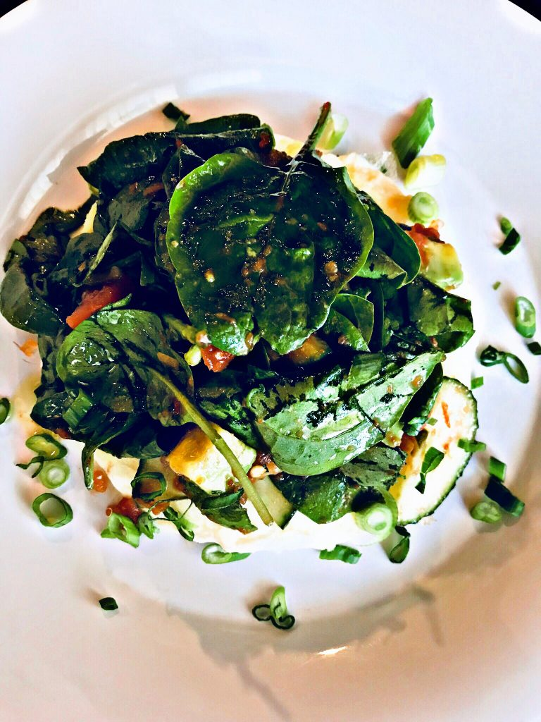 Spinach & Zucchini Egg White Frittata from Chaos with Coffee for Simple and in Season on feedingboys.co.uk