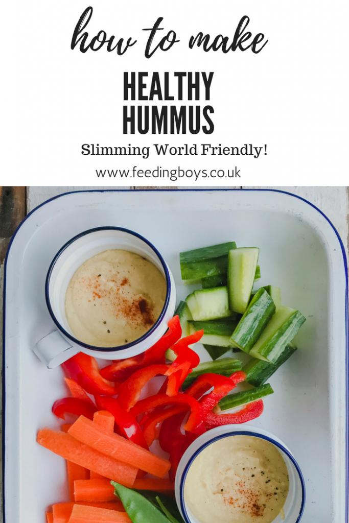 Slimming World Friendly Hummus Recipe on feedingboys.co.uk