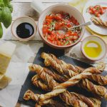 Grana Padano Easy Cheese Straws with a Fresh Tomato & Basil Dip on feedingboys.co.uk