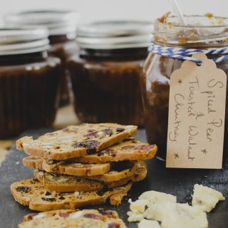 Toasted Walnut and Spiced Pear Chutney